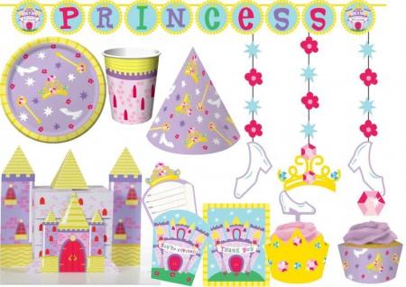 Deluxe Prinzessinnen Traumschloss Party Deko Set 8 Personen