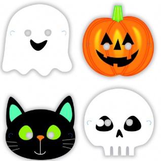 8 Papp Masken Halloween Freunde