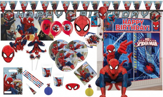 Spiderman Web Warriors Party Deko Auswahl Set
