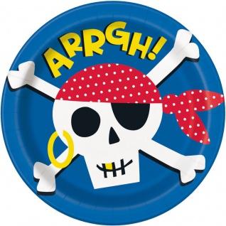 8 Papp Teller Geburtstag auf dem Piratenschiff