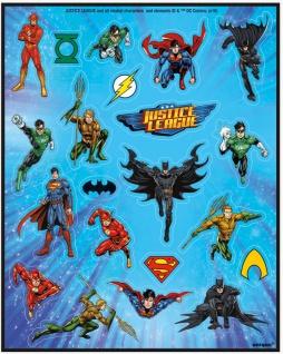 4 Sticker Bogen Justice League