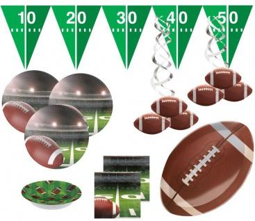 36 Teile American Football Superbowl Party Deko Set für 8 Personen Touchdown