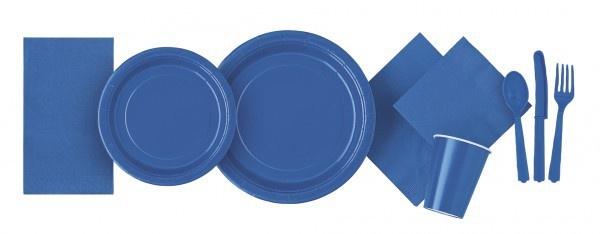 Runde Plastik Tischdecke Königs Blau - Vorschau 3