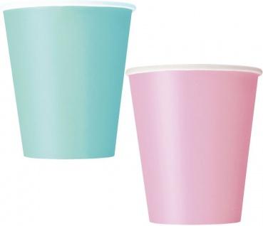 102 Teile Party Deko Set Baby Rosa Pastell Mint für 30 Personen - Vorschau 3