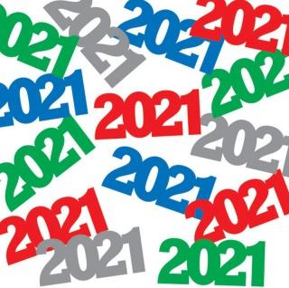 Konfetti 2021 für die Silvester Party Deko