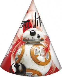 6 Party Hütchen Star Wars Episode 8