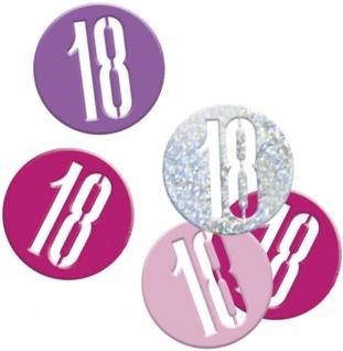 Deko Konfetti Pink Dots Glitzer zum 18. Geburtstag