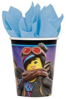 8 Papp Becher Lego Movie 2 Abenteuer im Weltraum