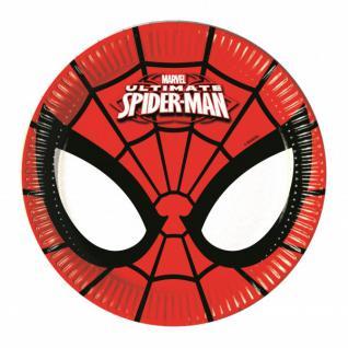 8 kleine Teller Spider-Man Ultimate Power
