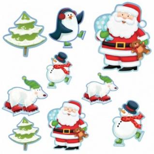 12 Weihnachtsmann Dekoschilder