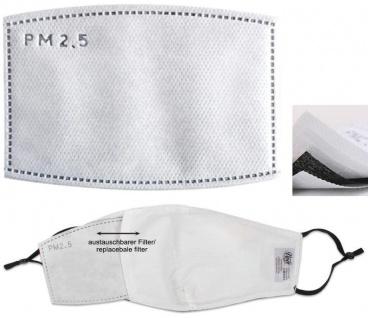5 Ersatz Filter 4-lagig für Motivmasken Mund Nasen Schutz