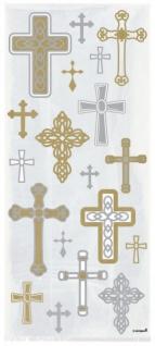 20 Zellophantütchen Kreuz