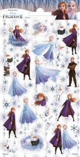 1 Bogen Eiskönigin Papier Sticker mit Glitter