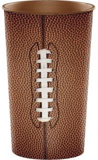 1 Stück großer Plastik Becher American Football Superbowl Party 624 ml