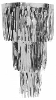 Folien Lametta Kronleuchter in Silber Metallic