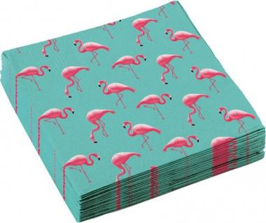 20 Servietten Flamingo Paradies