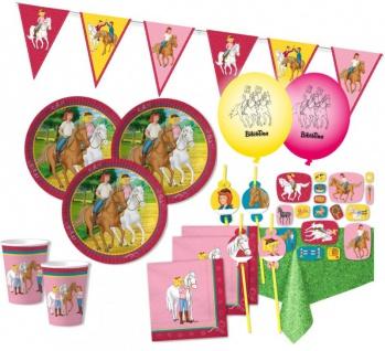 XXL 55 Teile Bibi und Tina Party Deko Set - für 8 Kinder Geburtstag