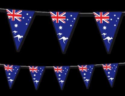 Wimpel Girlande Australien