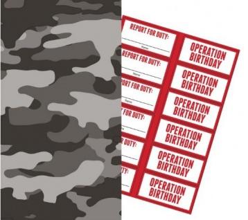 6 große Papier Tüten Camouflage im Einsatz