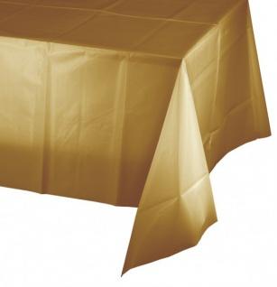 Plastik Tischdecke Gold