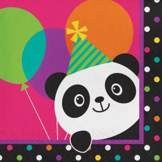48 Teile Pink Panda Bär Basis Party Deko Set für 16 Personen - Vorschau 4