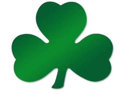 St. Patricks Day Kleeblatt Folien Pappschild