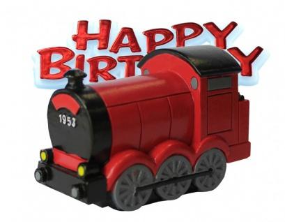 Geburtstags Tortendeko rote Eisenbahn