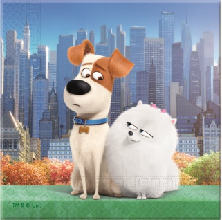 20 Hunde Servietten The secret life of pets