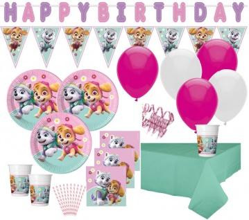 56 Teile Pink Paw Patrol Party XL Deko Set für 8 Kinder