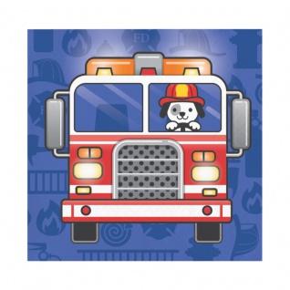 16 kleine Servietten Feuerwehr Alarm