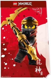 4 Papier Tütchen Lego Ninjago