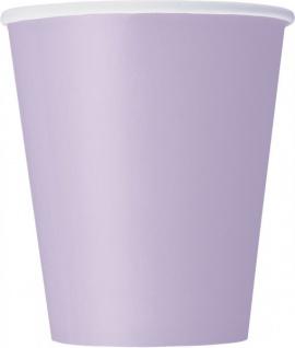 8 Papp Becher Lavendel