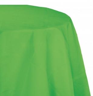 Runde Plastik Tischdecke Limonen Grün alte Farbmischung