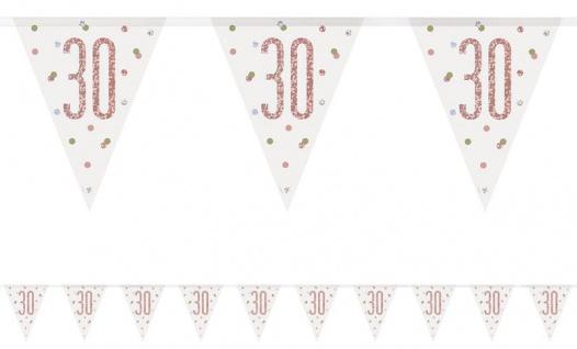 Wimpel Girlande Urban Apricot Glitzer zum 30. Geburtstag