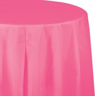 Runde Plastik Tischdecke Bonbon Rosa