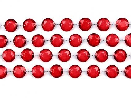 1m Plastik Kristall Girlande rot - 18mm Durchmesser