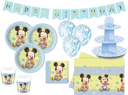 XL 44 Teile Disney Baby Micky Maus Geburtstags Party Deko Set 8 Personen