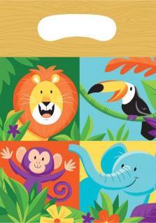 8 Party Tütchen fröhliche Dschungel Party