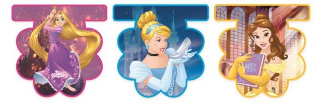 Disney Princess Heart Wimpel Girlande