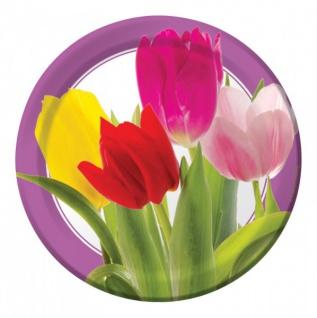 8 kleine Teller Tulpen Freude
