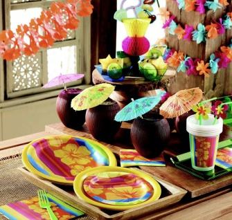 32 Teile Sommer Party Deko Set Aloha Summer 8 Personen - Vorschau 5