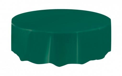 Runde Tischdecke Waldgrün