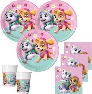 52 Teile Pink Paw Patrol Party Deko Set 16 Kinder