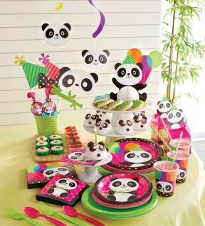 48 Teile Pink Panda Bär Basis Party Deko Set für 16 Personen - Vorschau 5