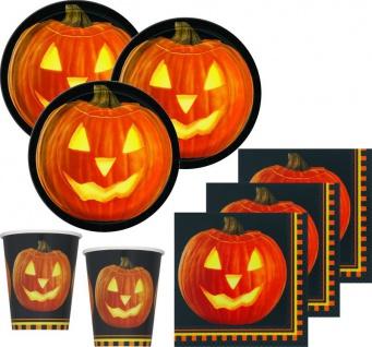 32 Teile Halloween Deko Set Kürbis 8 Personen