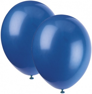 10 Luftballons Königs Blau