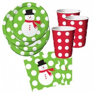 Weihnachtsfeier 200 Teile Pappgeschirr für Kuchen + Fingerfood