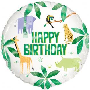 Geburtstags Folien Ballon Safari und Dschungel Party