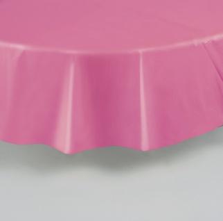Plastik Tischdecke Rund helles Pink - Vorschau 2