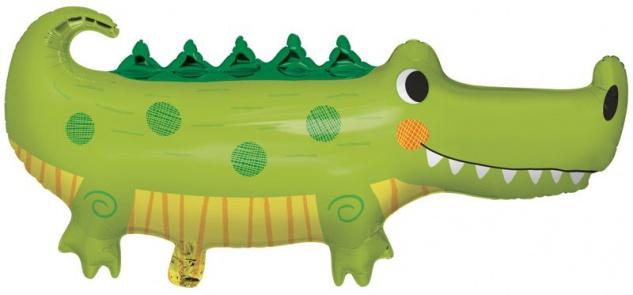 Folien Ballon kleines grünes Krokodil